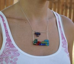 Tetris necklace by ScienceAndFiction on Etsy, $25.00