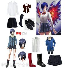 Tokyo Ghoul ~ Touka by kanimecreate on Polyvore