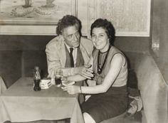 Alberto Giacometti et Caroline - Artist and his muse Collection Jacques Polge Photography Alberto Giacometti, Black White Photos, Black And White, Roman, Musa, Mythology, Portrait, Fictional Characters, Image