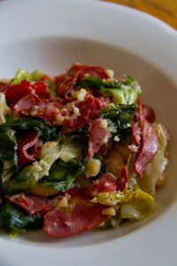 Southern Italian-Style Greens with Citterio Hot Capocollo & Beans