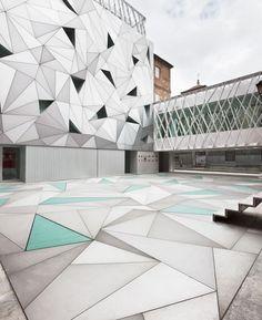 futuristic facade + museum