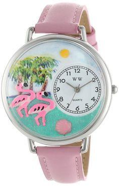 Amazon.com: Whimsical Watches Unisex U0150001 Flamingo Pink ...