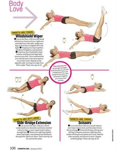 Body Love; Tracy Anderson Method in Cosmopolitan; Fit in 6 minutes column