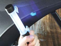 Wassereintritt per UV-Licht lokalisieren. www.technolit.de/abk #kfz #nfz #kraftfahrzeug #auto #wasserschaden