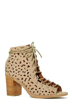 Jeffrey Campbell Cors Bootie - Beige | Shop Shoes at Nasty Gal
