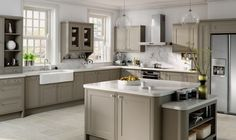 Bella Matt Stone Grey Tullymore kitchen by BA Components. 6 year guarantee and short lead times for bespoke kitchen doors.