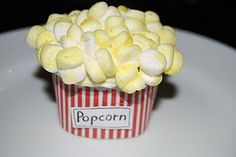 Popcorn Cupcakes - so cute for a movie themed birthday party