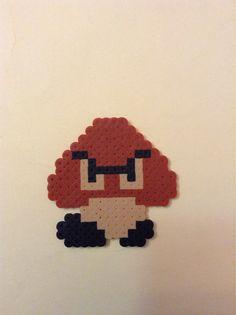 Goomba  Super Mario Brothers Perler Bead Pixel Art by 8BitLegit