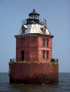Sandy Point Shoal Light - Located in the Chesapeake on the north side of the Chesapeake Bay Bridge (US 50). Accessible only by boat;