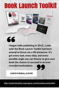 Give your book the launch it deserves http://authortoolkits.wpengine.com/booklaunchtoolkit/