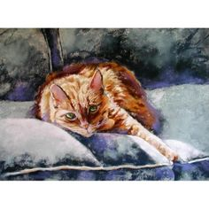 Orange Cat Print  Tabby Cat Art  signed limited by AlisaPaints, $59.00
