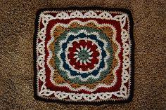 "Ravelry: Pizzazz - 12"" Square free crochet pattern by Melinda Miller, afghan, blanket, throw, granny square, #haken, gratis patroon (Engels), Ravelry, deken, sprei"