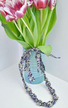 Lauren's DIY fabric bead necklace
