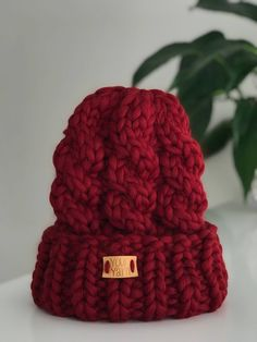 8a0c80fc4a855 FUNOC Women Ladies Baggy Beret Chunky Knit Knitted Braided Beanie Hat Ski  Cap FUNOC http   www.amazon.com dp B00M3RYO8M ref cm sw r pi dp twzDub1ZG…