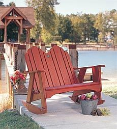 Shop our Adirondack furniture for the best selection and price. Our Adirondack chairs, rockers and side tables are durable and look great anywhere outdoors. Double Rocking Chair, Rocking Chair Plans, Outdoor Rocking Chairs, Adirondack Furniture, Adirondack Chairs, Rustic Furniture, Outdoor Furniture, Antique Furniture, Luxury Furniture