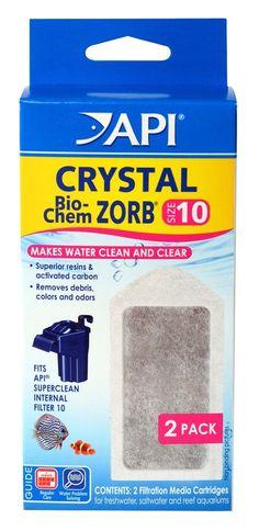 API 2 Count Crystal Bio-Chem Zorb Internal Filter Cartridge .