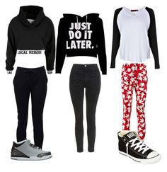 """""""Untitled #75"""" by mybabycakes ❤ liked on Polyvore featuring Boohoo, T By Alexander Wang, Local Heroes, Topshop, Converse and Retrò"""