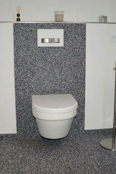 fugenloses Design auch im Bad, sauber und fußwarm, leicht zu reinigen #Steinteppich #Bad #Bodenbelag #Inneneinrichtung #Natursteinteppich