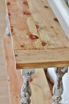 DIY Reclaimed Sofa Table [tutorial]