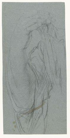 anoniem | Rechteronderarm, possibly Anthony van Dyck, 1610 - 1641 |