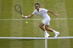 Roger Federer during his Wimbledon First round match - His usual gracefulness on the court!
