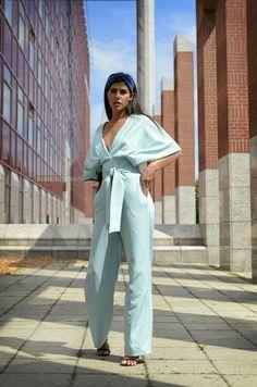 #orovicafashion #jumpsuit #mint #vibratingcolor Timeless Fashion, Jumpsuit, Mint, Womens Fashion, Dresses, Design, Overalls, Vestidos
