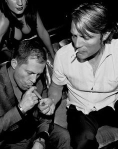 Til Schweiger and Mads Mikkelsen - they should know better ;) the pure sex appeal in this picture? ..............mmmm