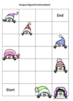 Offline Coding Academy- Printable Games with Penguins Kids Computer, Computer Class, Computer Coding, Computer Science, 2nd Grade Math, Grade 2, Coding Classes For Kids, Coding Academy, Alphabet Code