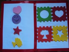 Matching foam puzzle shapes