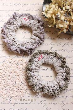 crochet lace scrunchie