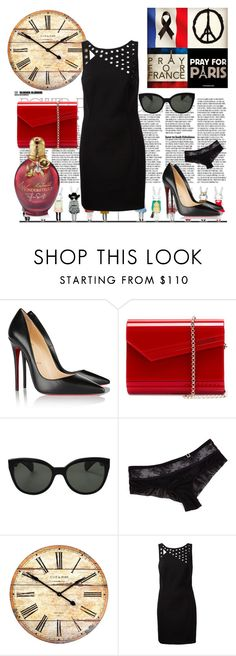 """What makes a real girl?"" by brandonandrews500 ❤ liked on Polyvore featuring Christian Louboutin, Jimmy Choo, Oliver Peoples, La Perla and Anthony Vaccarello"