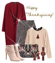 """Thanksgiving Gathering"" by shamrockclover ❤ liked on Polyvore featuring Lafayette 148 New York, 10 Crosby Derek Lam, Valentino, Gorjana, Lizzie Fortunato and Skagen"