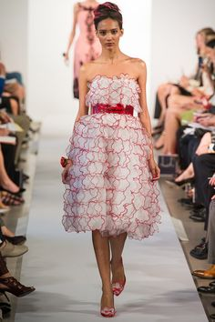 From Oscar de la Renta Spring 2013 collection. - it doesn't fit my age. ( I am not that old just that i am a working professional) but it is cute with match shoes!!