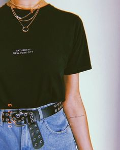 Outfit Ideas Discover Fashion Look Featuring Saturdays NYC Tees and Express Belts by BrittanyXavier - ShopStyle joie de vivre Grunge Outfits, Hipster Outfits, Mode Outfits, Vintage Outfits, Retro Outfits, Trendy Outfits, Summer Outfits, Summer Dresses, 90s Fashion