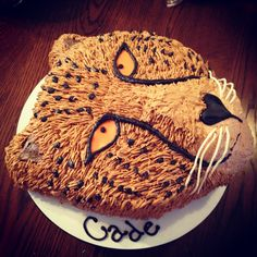 Cheetah Face Cake