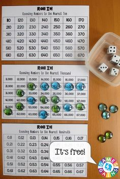 Want A Free Rounding Game To Use In Your Math Centers Tomorrow? Figure out How To Play This Differentiated Roll It Rounding Game. You'll Even Get Our Free Game Boards To Use Math Resources, Math Activities, Place Value Activities, Fun Math Games, Dice Games, Rounding Games, Rounding Numbers, Rounding Decimals, Math Fractions