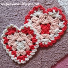Granny Hearts!!! Just in time for Valentines Day! GRANNY HEART PATTERN PATTERN TERMS: US...