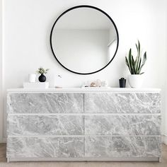 123kea sticker Marble for Ikea Malm