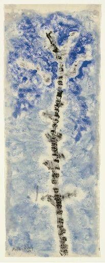 Milton Avery, Untitled [Blue Tree Monotype]