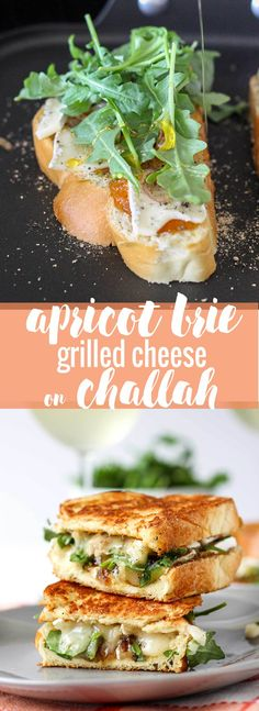 Apricot Brie Grilled Cheese on Challah - a quick recipe for a savory, unique grilled cheese. Must try! // Fork in the Kitchen