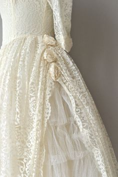 Ringing Bells wedding dress vintage 1950s wedding by DearGolden