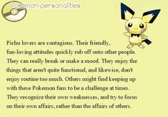 Pokemon Personalities