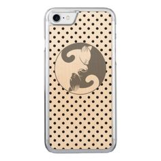 Kitty Cat Yin Yang | Gray Carved iPhone 8/7 Case - cat cats kitten kitty pet love pussy