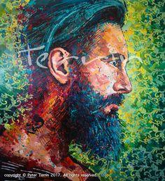 MR. STEVE Acrylic on Canvas 185cm x 205cm