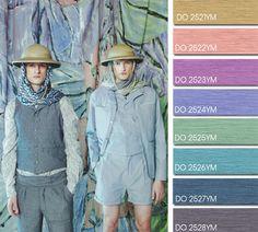 Spring Summer 2014, contemporary men's color trend report, Double Feature color board