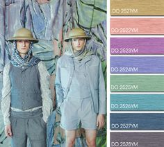 Spring Summer 2014, contemporary men's color trend report, Double Feature color board