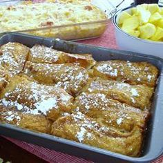 Baked French Toast | A sweet baked French toast recipe you make the night before and bake in the morning.