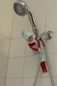 A whole bunch of elf on the shelf ideas. This would be fun to do with kids. My mom had a ton of these elves.