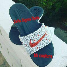 Nike Kawa Slides with the Delta Sigma Theta Sorority colors Delta Girl a0098507a0e9c