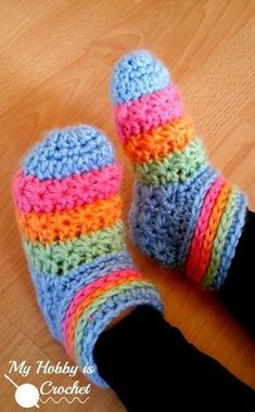 Starlight Toddler Slippers - Free Crochet Pattern with Tutorial on myhobbyiscrochet.com